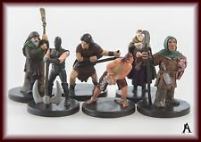 Dungeons and Dragons, D&D Miniature Lot, Townfolk, Farmers and Peasants - 1