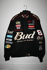New Dale Earnhardt Jr NASCAR Racing #8 Budweiser twill cotton jacket men's XXXL