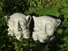 LATEX MOULD MOULDS MOLD.     PAIR OF NAUGHTY GARGOYLES HEADS. (2017)