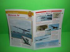 DASSAULT BREGUET MIRAGE IV AIRCRAFT FACTS CARD AIRPLANE BOOK 96