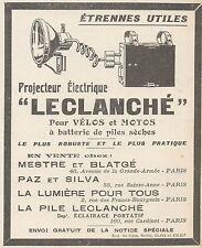 Z9884 Projecteur pour Vélos LECLANCHE' -  Pubblicità d'epoca - 1924 Old advert