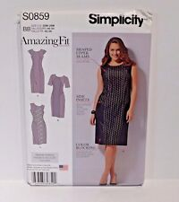 Simplicity Pattern Amazing Fit Dress S0859 Cup B C D  DD Size 20W-28W Same 1156