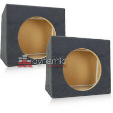 """Two (2) Single 10"""" Sealed Solid MDF Under Seat Subwoofer Sub Box Enclosures New"""