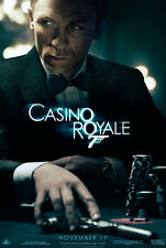 007 Casino Royale James Bond Daniel Craig Huge Silk Poster 24x36 inches