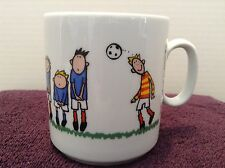 Cartoon Soccer Players Net Goal Mug Cup by Konitz Porzellan JAKO-O Made in EU