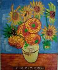 Famous Oil Painting On Canvas Van Gogh Blue Background Sunflowers Best Gift