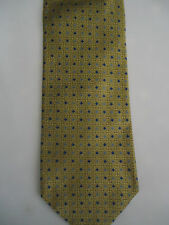 Tie Rack Gold Blue Small Spots & Checks Designs Silk 58""