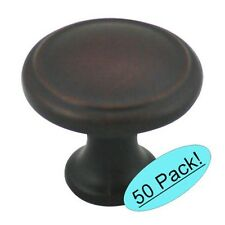 50 Pack*  Oil Rubbed Bronze Round Cabinet Knobs #5982ORB