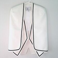 FRONTROWSHOP.COM White Wool Blend 1-Pc Cape and Vest SZ XS Coat Jacket Career