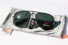 PZ Polarized Sunglasses Aviator Classic Driving Sailing Green Tint - Free pouch