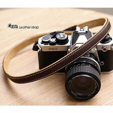 CIESTA Shoulder Neck Leather Camera Strap L15 [Dark Brown]f/ D-SLR RF Mirrorless