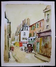 Saint Germain Des Pres, Paris, France, Original Watercolor