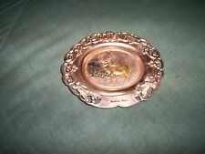 Vintage Metal Beatrice Nebraska Trinket Tray Souvenir Made in Japan
