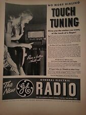 1937 General Electric FM Radios No More Touch Tunning Original Ad