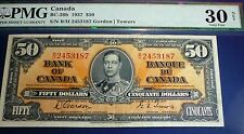PMG 30 Net ,Bank Of Canada 1937 $50