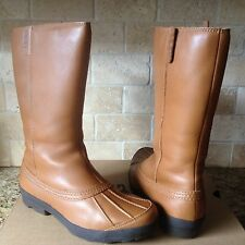 UGG BELFAIR CHESTNUT TALL WATER-PROOF LEATHER RAIN SNOW BOOTS US 6 WOMENS