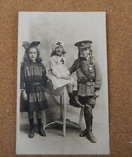 Child Dressed In WW1 uniform Prince of wales Dragoon guards   unposted XC2