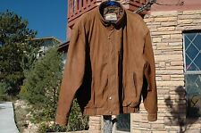 VTG Men's Members Only Leather Jacket Lined Brown 2x Large Soft Suede Coat