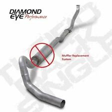 "DIAMOND EYE 4"" Turbo-Back NO MUFFLER Exhaust 1993-2001 CHEVY/GMC 6.5L DIESEL"