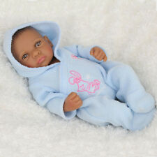 Lifelike African American Baby Doll Boy Real Looking Baby Doll Toy Handmade