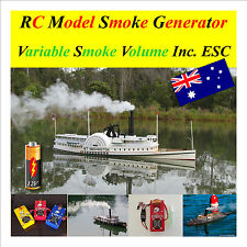 RC Model Boat 12 Volt Smoke Generator Variable Volume ESC included & fluid V4 S2