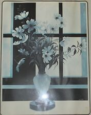 Original Blue Daisies in Vase Litho signed in plate by Xavier Truely Beautiful!!