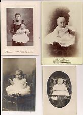 Lot of 6 Real Photo Photographs of Babies from 1800's & 1900's