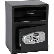 Digital Safe Box Depository Drop Deposit Front Load Cash Vault Jewelry Lock Home