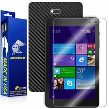 ArmorSuit Dell Venue 8 Pro 3000 Series 2014 Screen Protector + Black Carbon Skin