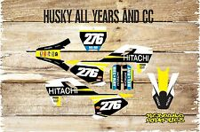 HUSQVARNA TC 85 TO 450  MOTOCROSS FULL GRAPHICS KIT-FULL STICKER KIT-DECALS-MX