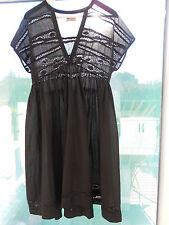 robe STELLA FOREST  voile de coton noire 40