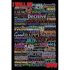 I WILL BE - INSPIRATIONAL QUOTE POSTER 24x36 - LIST 1544