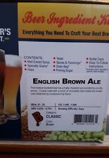Brewers Best English Brown Ale 5 Gallon Beer Ingredient Kit Home Brewing Kit