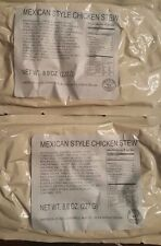 2 Mexican Style Chicken Stew MRE Entree/Military Meal/Survival Food /Camping