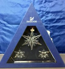 Swarovski Christmas Ornament 2005 Set 3p -842602- Weihnachtsstern -Snowflake NEW