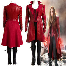 Full Suit Civil War Scarlet Witch Captain America 3 Cosplay Red Costume Apparel