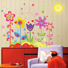 Colorful Flower Stickers for Kids Baby Room Wall Sticker Decor Decal for KFG 1X