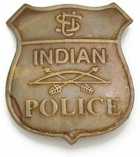 NEW Old West Reproduction INDIAN POLICE BADGE by Bruni - Antique Brass Finish