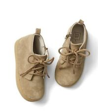 NWOT Baby Gap Suede Lace Up Booties Beige Toddler Boys Size 9 2016