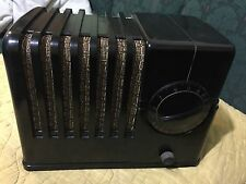 1937 Silvertone Model 4500a Bakelite AM Radio. WORKS. The Toaster. Sears