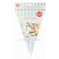 10x Double Piping Bags Two Colours Clear  Dual  Disposable  Icing Piping Bags