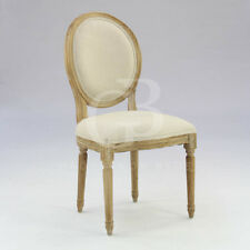French Style Limed Oak Upholstered Dining Chairs - Kitchen Chair - Bedroom Chair