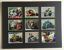 "VALENTINO ROSSI 9 WINS 14"" BY 11"" MOUNTED PICTURE READY TO FRAME"