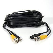 50ft Video Power Security CCTV Camera Cable DVR Home Surveillance Wire BNC Cord