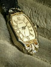 Antique 1934 Gruen Ladies dress watch 14k with 6 diamonds and sapphire crown