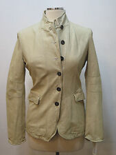 Nwt JAKETT Rugged Kate Woman's Bleach Genuine Leather Jacket Anthropoligie S