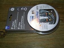 General Electric Jasco 6' Component Digital Audio Cable Ultra Pro HDTV RCA