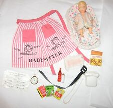 Vintage Barbie # 953 Barbie Baby Sits Apron Pretzel Box Phone Baby NC EXC to NM