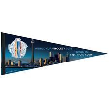 "WORLD CUP OF HOCKEY 2016 TORONTO ROLL UP PREMIUM PENNANT 12""x30"" NEW WINCRAFT"