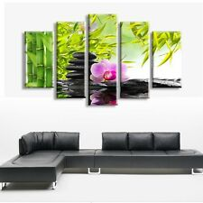 5 pcs Wall Art Botanical Feng Shui Orchid Print Painting Canvas bamboo oil